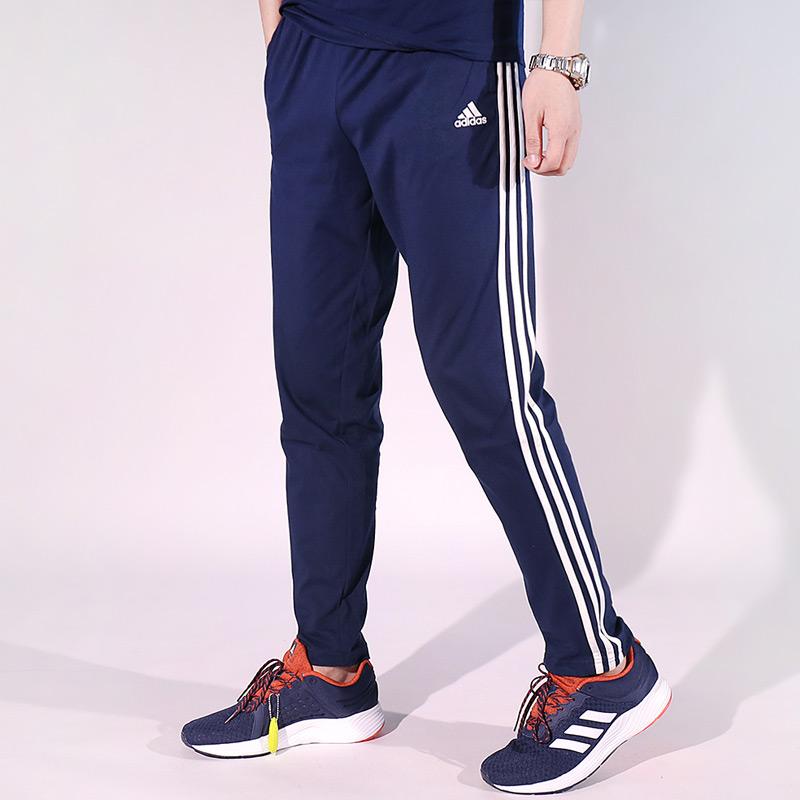 adidas阿迪达斯2018年新款男子宽松透气跑步运动针织长裤B47216【双11返场 抢购好货 大促狂欢】