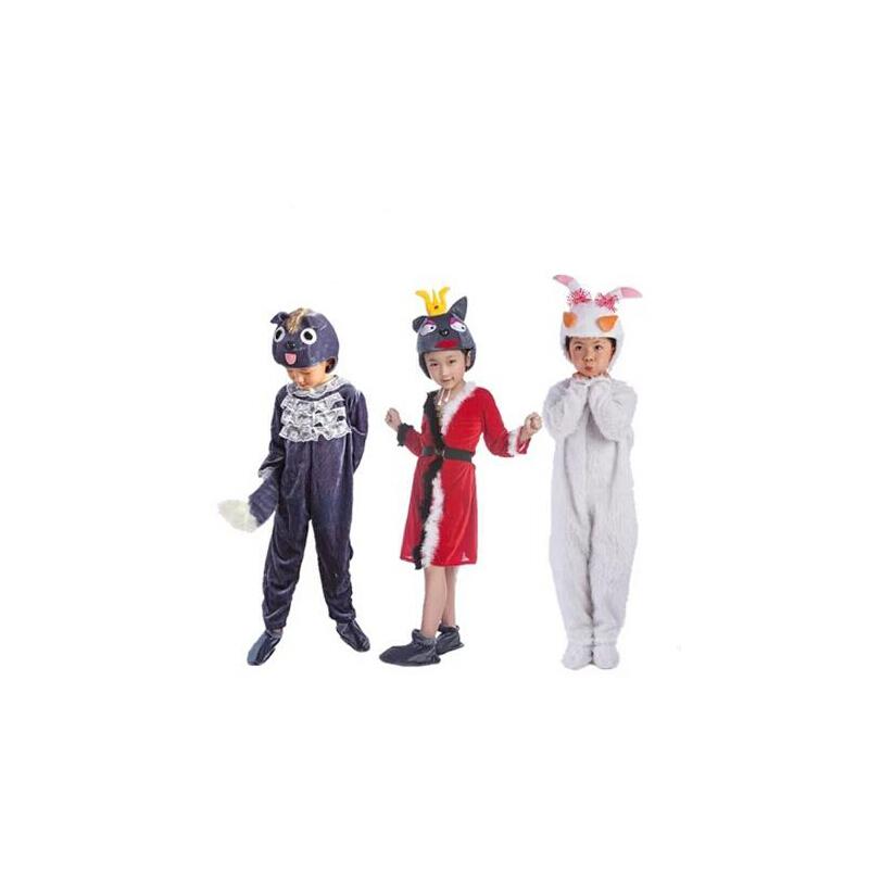 儿童动物表演服装 演出卡通六一儿童节表演服 圣诞节喜羊羊美洋洋舞台红太狼灰太狼