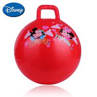 迪士尼伊诺特 加大加厚跳跳球18寸手柄球益智卡通充气儿童户外玩具PVC
