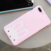 清新可爱兔子苹果x手机壳创意iphone6s保护套个性超萌7plus/8潮女