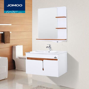 【限时直降】九牧(JOMOO)实木悬挂式浴室柜浴室洗手盆洗面盆储物柜组合A2175