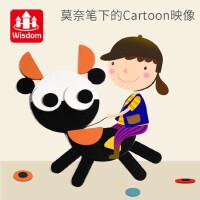 儿童男孩女童3-6周岁氏4-7木质蒙益智积木早教玩具七巧板智力拼图