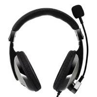 中高考人机对话耳机K歌头戴式台式平板电脑单孔笔记本带话筒