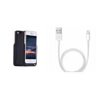 iphone5S背夹电池5代苹果se专用充电宝5s移动电源手机壳大容量 +苹果数据线