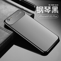 iphone6手�C��6s�O果6splus�O果6p新款6潮牌�W�t超薄六男款i6女款6puls磨砂六玻 6P/6SP【�琴黑