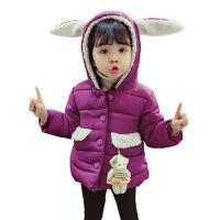 女童秋冬装外套女宝宝小女孩棉袄