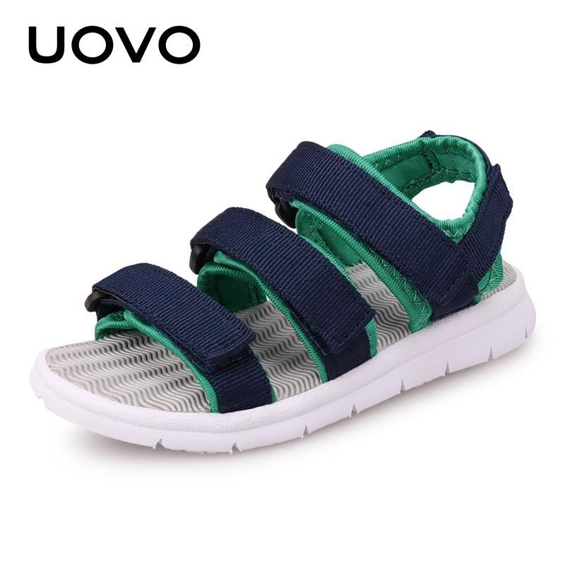 【1件2.5折价:69元】UOVO新款夏季儿童凉鞋男童凉鞋儿童沙滩鞋魔术贴童凉鞋 贝加尔 【领券立享一件2.5折 数量有限】