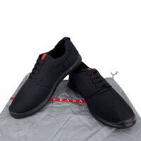Prada 黑色布面男士休闲系带鞋 4E3005