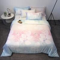双面天丝四件套裸睡亲肤冰丝被套床单床笠款1.8m床上用品 2.0床/220x240cm被套 床笠款四件