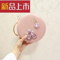 韩版时尚小圆包新款女包包单肩斜跨链条球形包宴会包
