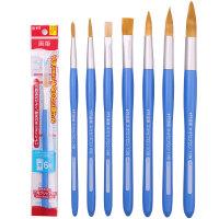 Sakura樱花水彩画笔NR圆头水粉画笔丙烯画笔NF平头水彩笔颜料画笔
