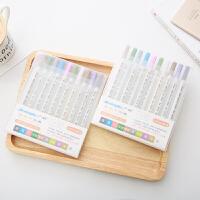 创意diy相册黑卡纸牛皮纸专用涂鸦笔 10只装画画笔彩色油性记号笔 金属色笔