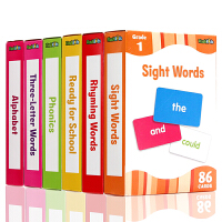 Flash Cards Flash Kids英文原版 配套字卡6盒 The Complete Book of Sigh