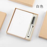 实用商务B6线装本记事本套装创意笔记本子文具用品定制定做印logo B6星空本+166笔 白色