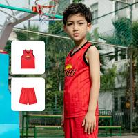 【领券立减50元价:49】361度童装 男童篮球套装儿童男中大童2021夏季新品男童篮球套装