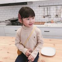 女童打底衫冬季高领儿童T恤宝宝衣服洋气长袖上衣潮