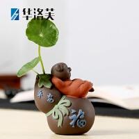 家里的装饰品陶瓷摆件 陶瓷创意小花瓶摆件客厅干花插花家居茶几个性水培花器装饰品 G