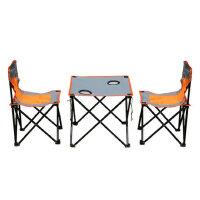 便携式户外折叠桌椅 沙滩桌椅组合3件套野餐桌椅  支持礼品卡支付