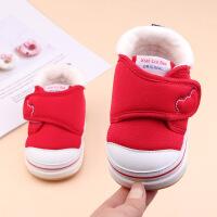 0-2岁软底防滑学步机能鞋保暖加绒加厚婴儿鞋子冬季男女宝宝棉鞋