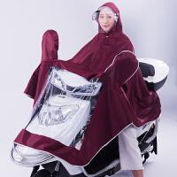摩托车雨衣单人双人骑行雨披男女电动自行车加大加厚防水雨衣
