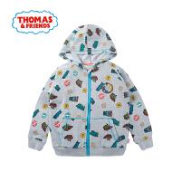 【一件5折】托马斯正版童装男童春装拉链卫衣开衫童趣印花纯棉外套
