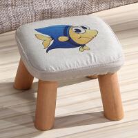 御目 凳子 换鞋凳矮凳实木布艺时尚创意儿童成人小椅子沙发圆凳小木凳坐墩满额减限时抢礼品卡创意家具