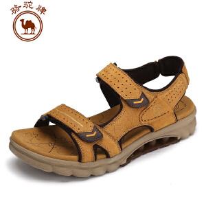 骆驼牌露趾男鞋 夏季新品男士耐磨休闲鞋透气 凉鞋