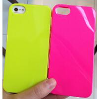 韩国荧光糖果色iPhone7/6plus/5s手机保护套苹果4s保护壳外壳软潮