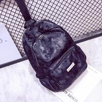 简约帆布双肩包女日韩版学院风高中学生书包女大容量休闲旅行背包