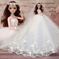 换装芭芘比娃娃套装大礼盒婚纱公主女孩儿童衣服洋娃娃玩具礼物3D