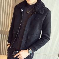 夹克男秋冬季2018新款韩版潮流男装帅气青年修身加厚短款男士外套