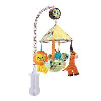 宝宝床铃动物音乐旋转摇铃床头婴儿布艺玩具