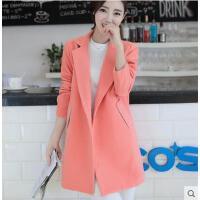 女外套 新款韩版修身女装加厚显瘦毛呢女大码中长款呢子大衣