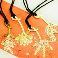 欧美复古幸运草日韩文具 迷你金属书签 植物书签四叶草,含羞草,莲花,枫叶,棕榈叶,橄榄叶