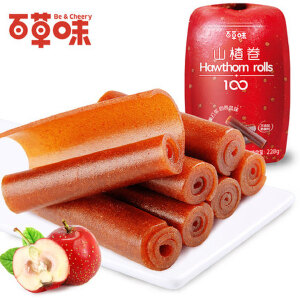 【百草味-山楂卷228gx2袋】果丹皮 片条糕零食果干果脯蜜饯