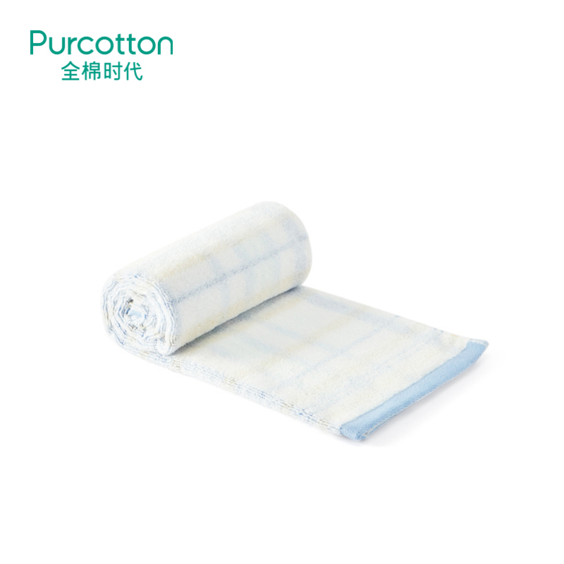 全棉时代  蓝色成人毛圈面巾34cm×76cm1条装