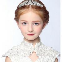 新款时尚儿童演出发饰儿童公主裙水钻发箍 女童皇冠头饰配饰