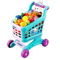 顺锋隆 儿童过家家玩具套装 女孩超市购物车 宝宝手推车玩具 触摸感应购物车16634