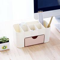 创意桌面收纳盒 多功能塑料整理盒 学生文具宿舍简约杂物盒储物盒 笔筒笔插