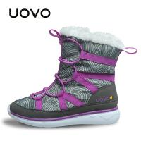 UOVO新款女童靴子冬季儿童冬靴雪地靴棉靴时尚潮流短靴中大童 多伦多