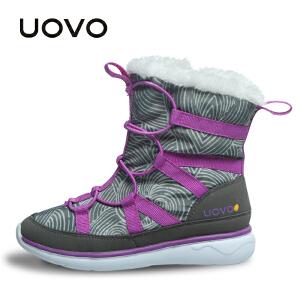 【开学季1件2折价:109元】UOVO新款女童靴子冬季儿童冬靴雪地靴棉靴时尚潮流短靴中大童 多伦多