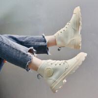 马丁靴女2019新款 百搭韩版时尚粗跟低跟短靴女春秋单靴马丁靴女