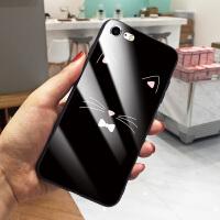 苹果7手机壳iPhone6splus平果6潮IP7pius防摔i8p新款pg6s女款八6pls保护套 7/8 黑底猫须