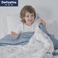 Domiamia安抚豆豆毯婴儿企鹅盖毯宝宝儿童被子豆豆被21年秋冬新品