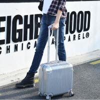 迷你拉杆箱18寸行李箱包女士小型旅行箱子商务登机箱横款男士韩版 (钻石款镜面) 18寸