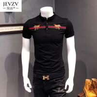 夏季型男硬汉polo衫刺绣男短袖保罗衫T恤显身材体恤潮NS01