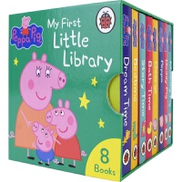 Peppa Pig My First Little Library 佩奇的首套小图书馆 8册盒装 粉红猪小妹 手掌书 家