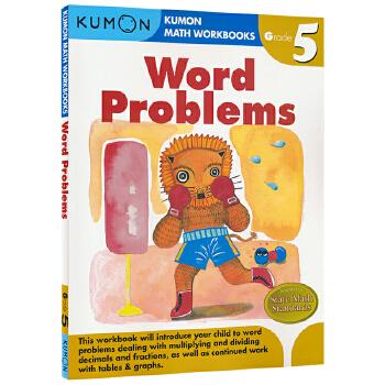 Kumon Math Workbooks Word Problems G5 公文式教育 小学五年级数学练习册应用题 思维训练教辅 儿童英文原版图书