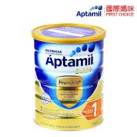 Aptamil 澳洲爱他美金装版婴儿奶粉1段(0-6个月)900g/罐 (海外购)