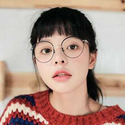 眼睛框镜架女复古近视眼镜框金属全框文艺潮品近视度数框架
